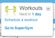 schedule workouts in the supergym