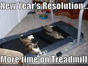 Keeping fitness new year's resolution