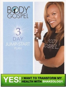 Body Gospel 3 day Jump Start Plan