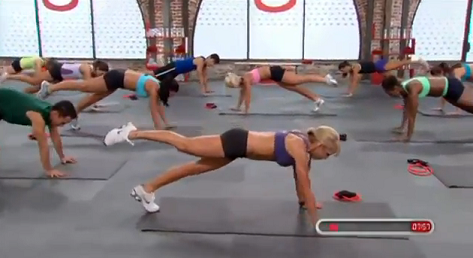 Chalene Johnson does ab moves in Ab Igniter