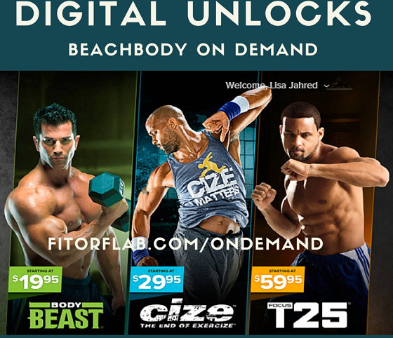 Beachbody On Demand  Digital Unlocks Available