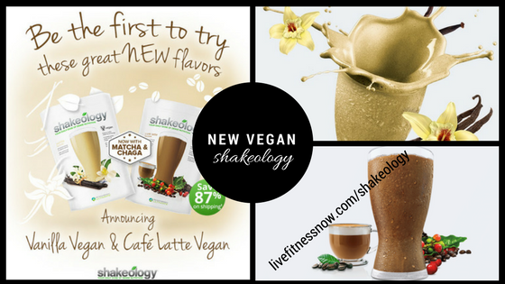 New Vegan Shakeology flavors vanilla and cafe latte