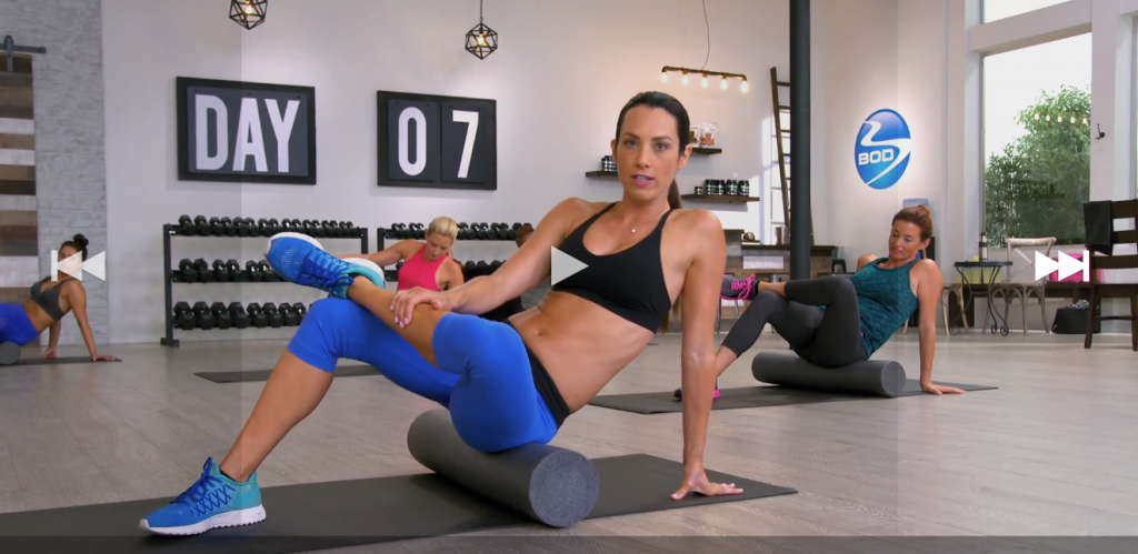 80 Day Obsession roller workout
