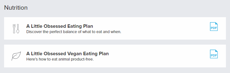 Vegan and regular eating plans