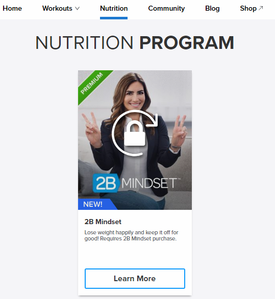 beachbody on demand nutrition program