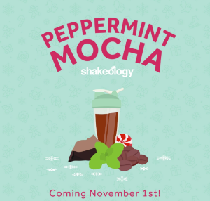 Shakeology peppermint mocha